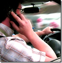 driver talking on cell phone