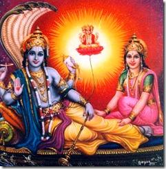 Vishnu in Shvetadvipa
