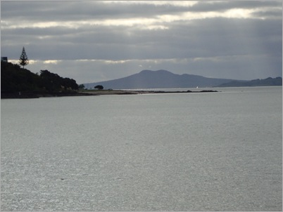 Rangitoto Island through the dusk