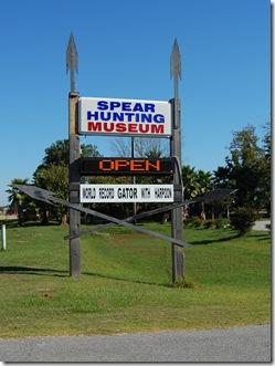 Spear Hunting Museum Sign