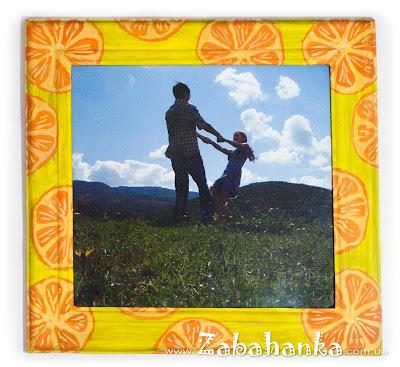 Рамка для фото - Апельсини