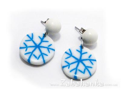 Сережки - сніжинки №2