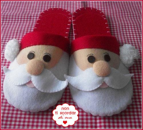 Pantofole natalizie for Pantofole natalizie