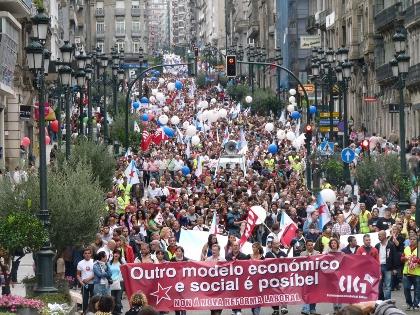 manifestación en Vigo o 29S
