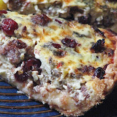 Cranberry Sausage Quiche