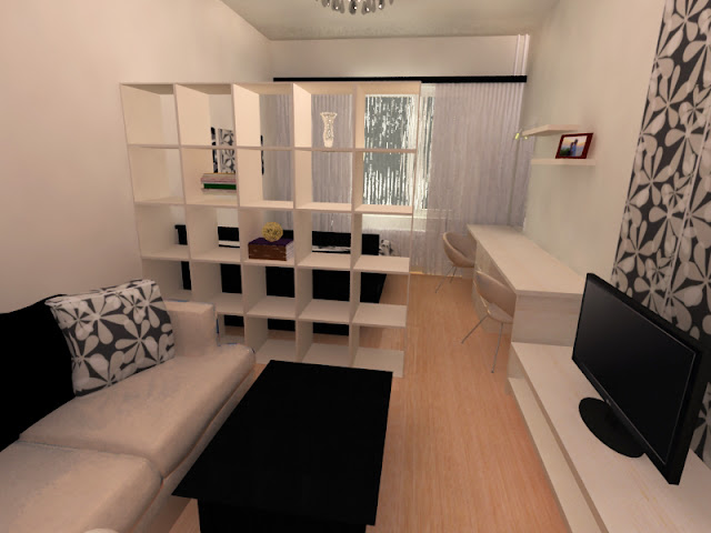 варианты освещения для гостиной совмещенной со спальней