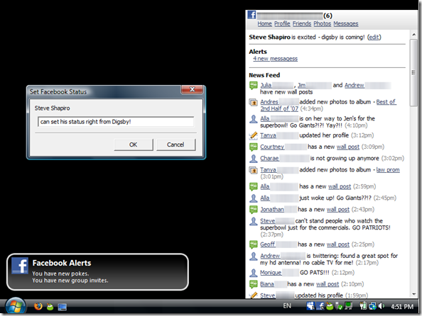MSN, Yahoo, ICQ, Google Talk, Facebook