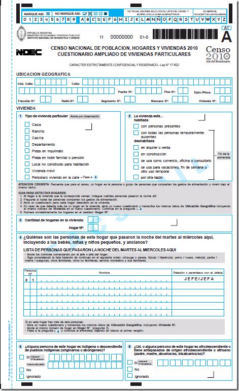 formulario del censo 2010