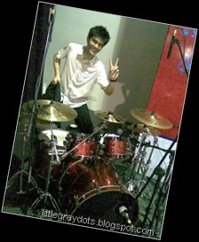 CY with his Tama Bubinga kit ...
