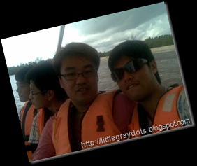 Swee and I on boat ....