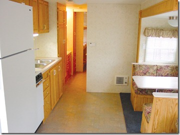 Interior of King Rental RV at Lake Rudolph Campground & RV R