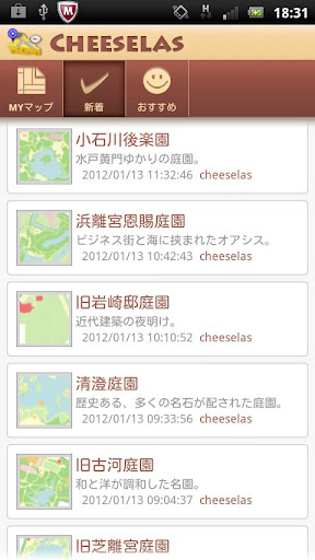 Cheeselas - share guide map