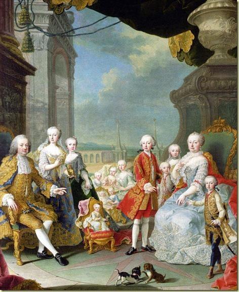 Maria Teresa y su familia.