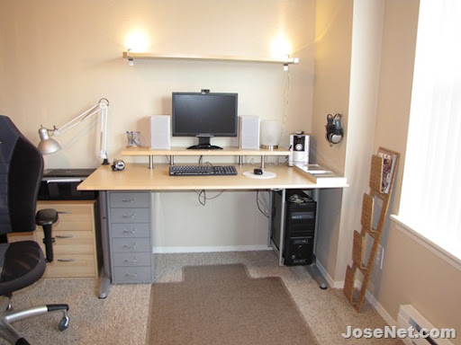 New Computer Desk setup from IKEA Home Office JoseNet