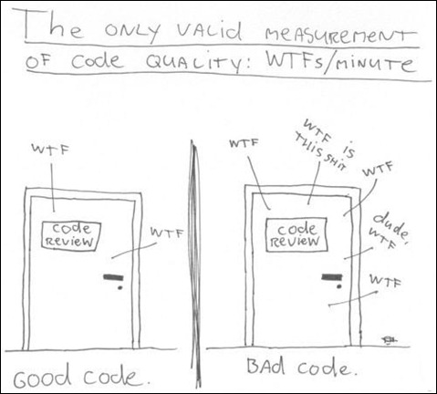 Bad and good source code review