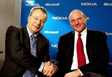 Stephen Elop e Steve Ballmer