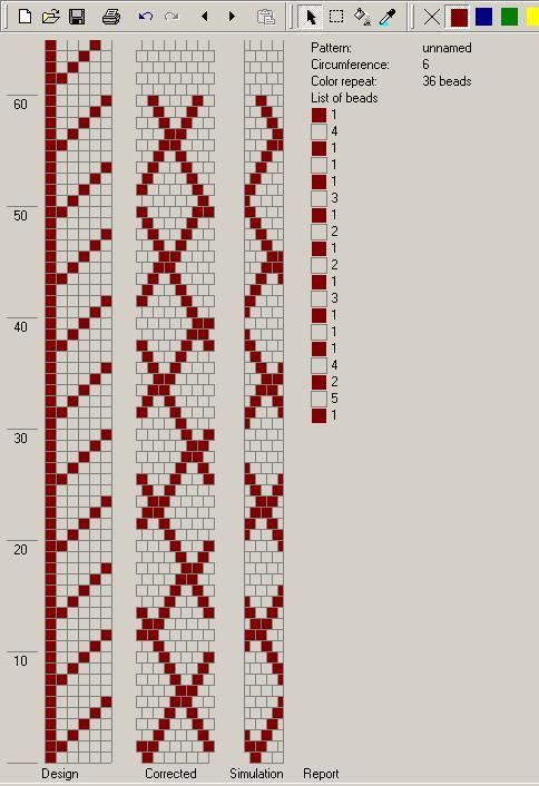 Простая схема бисерного жгута