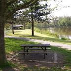 Aire de pique-nique à l'étang