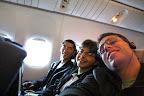 No avião a caminho de Paris