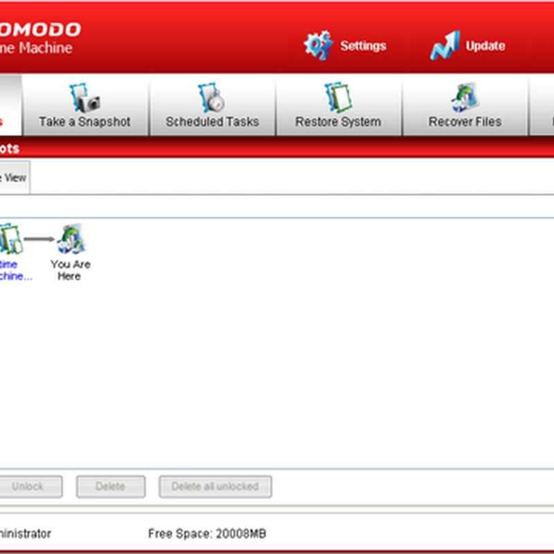 Comodo Time Machine – Better alternative to Windows System Restore