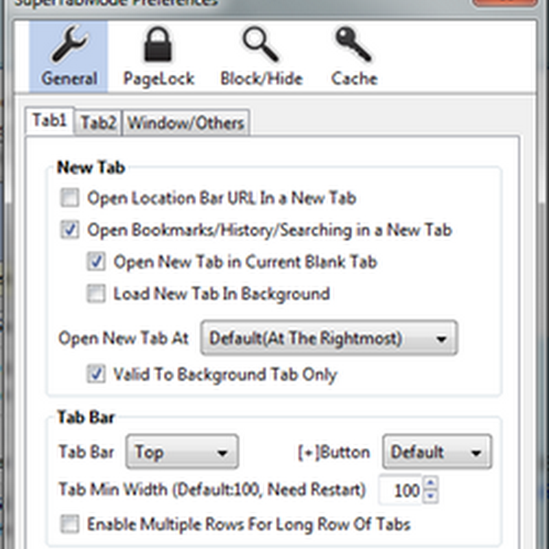 SuperTabMode – Firefox tab enhancement tool