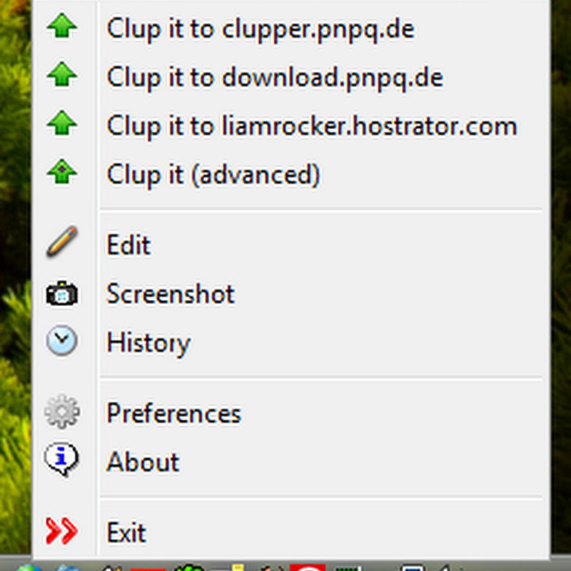 Upload Windows clipboard content to FTP server with Clupper