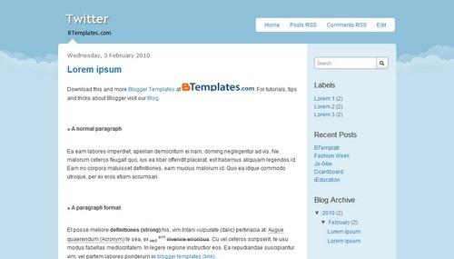 Twitter-blogger-template