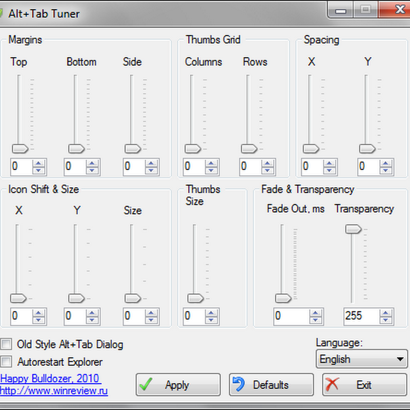 Tweak Alt+Tab settings with Alt+Tab Tuner