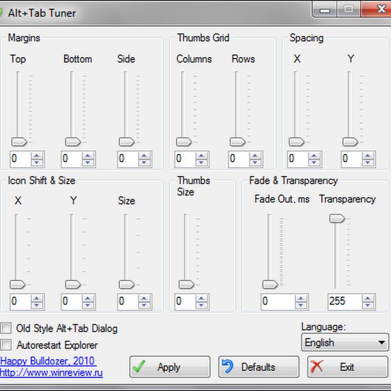 Tweak Alt+Tab settings with Alt+Tab Tuner
