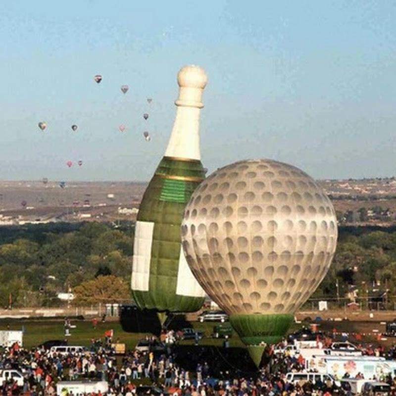 Strange shaped hot air balloons