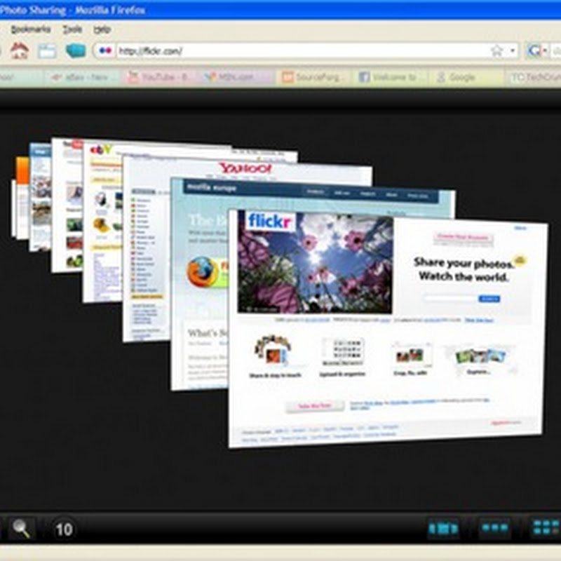 FoxTab - 3D tabbed browsing in Firefox