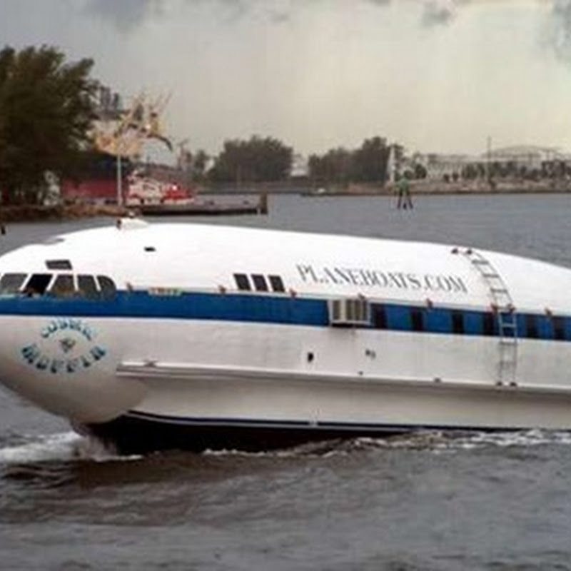 Cosmic Muffin, a boat that was once an airplane