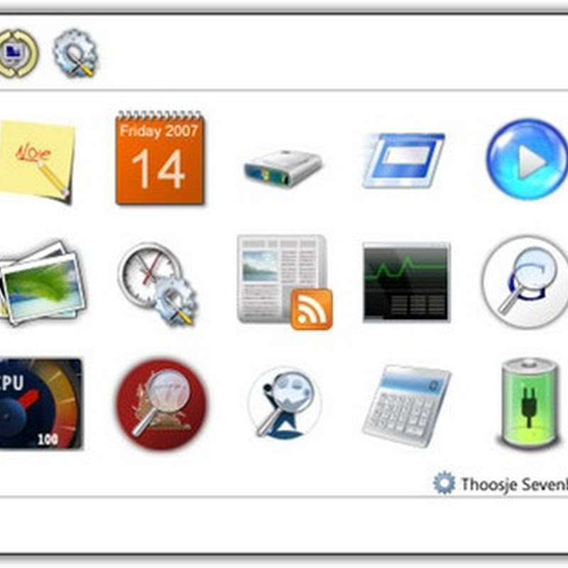 Windows 7 Sidebar for Windows XP and Vista