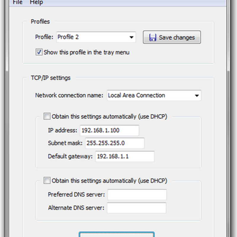 TCP/IP Manager – Quickly change network settings
