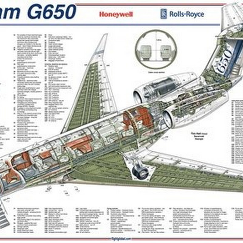 High resolution cutaways/cross-sections of airplanes