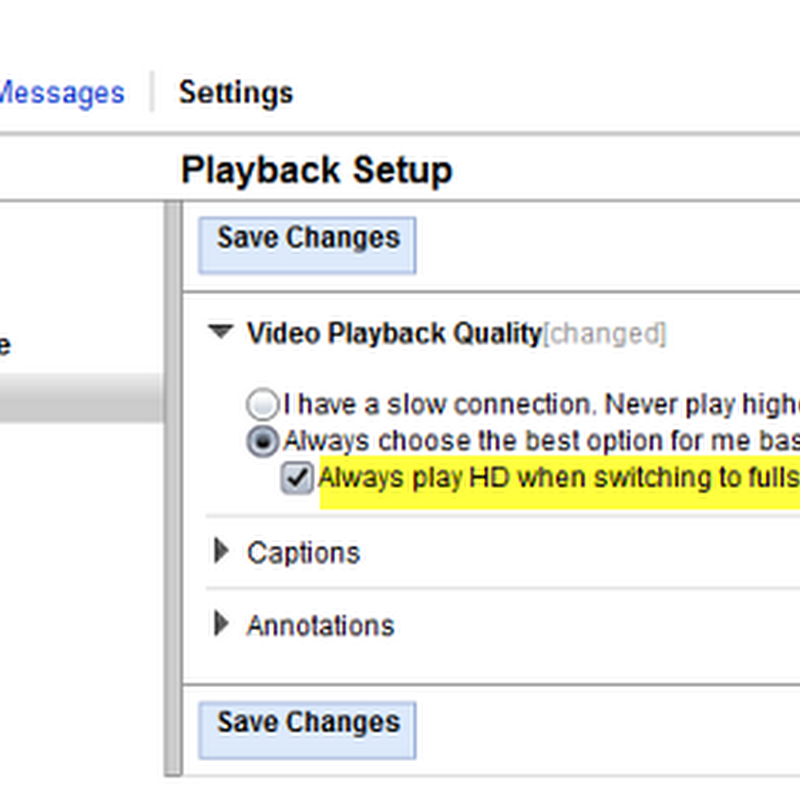 Automatically switch to HD when playing YouTube videos in full screen