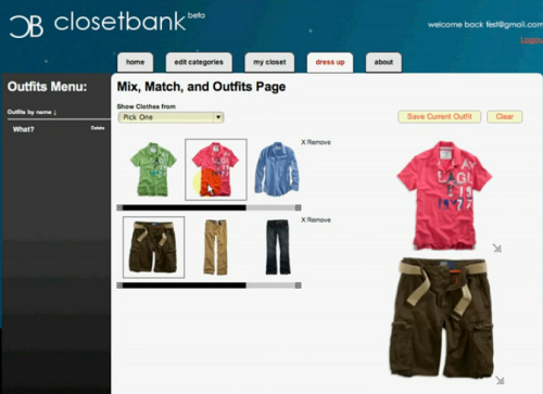 Design Your Own Clothes Online Virtual Online virtual closet like