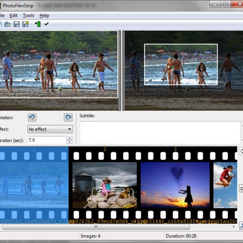 Create Ken-Burns style video slideshows from pictures with PhotoFilmStrip