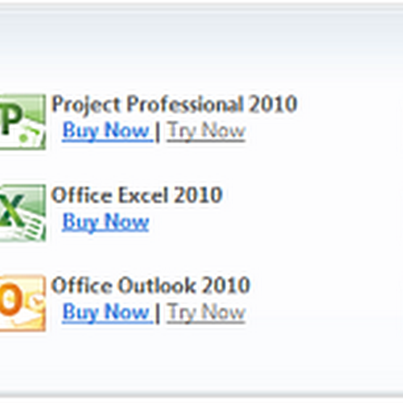 Microsoft releases individual Office 2010 components for download and purchase