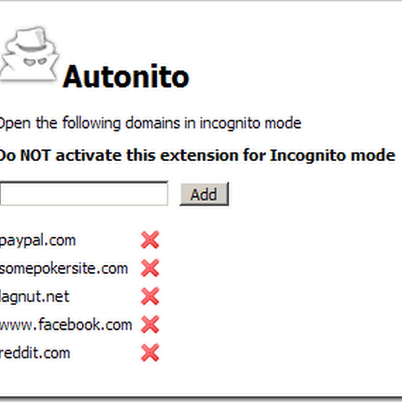Automatically switch to Chrome Incognito mode for specific sites