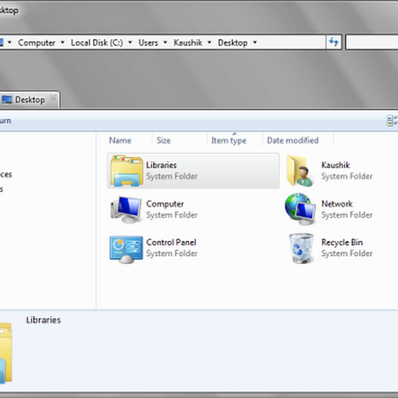 BExplorer, a tabbed Windows Explorer alternative