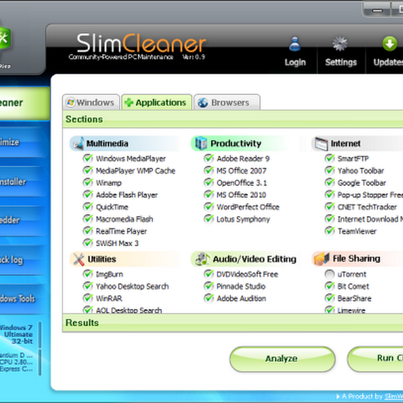 SlimCleaner: Community supported PC cleaning and optimization