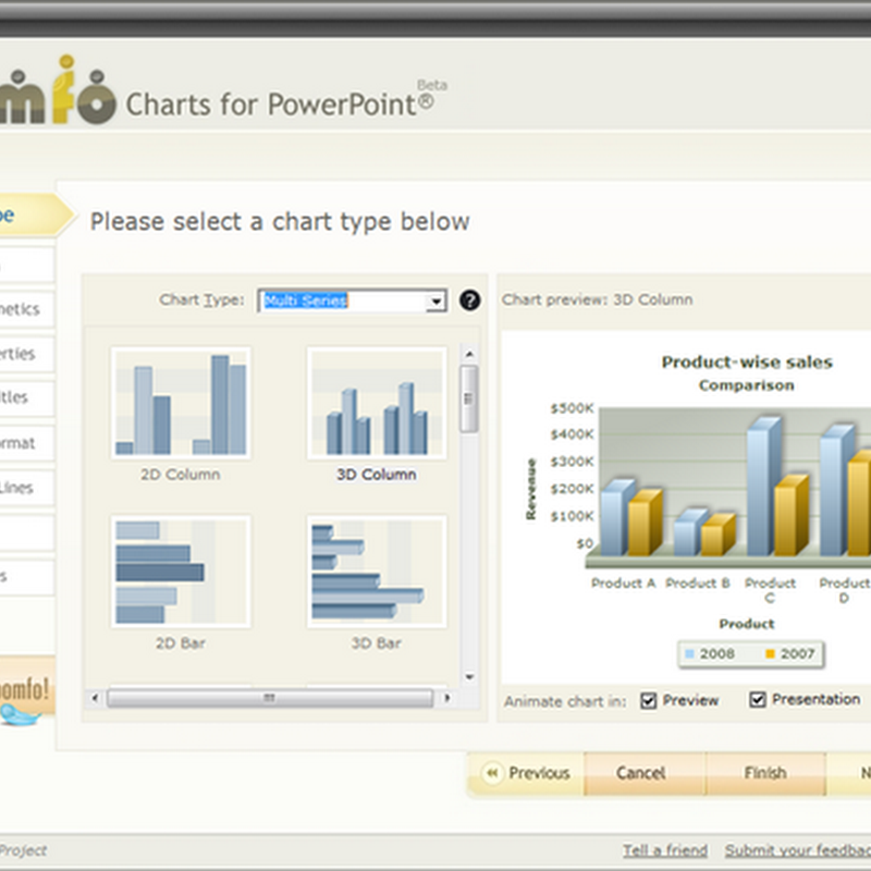 Add animated, interactive charts and graphs to PowerPoint presentations
