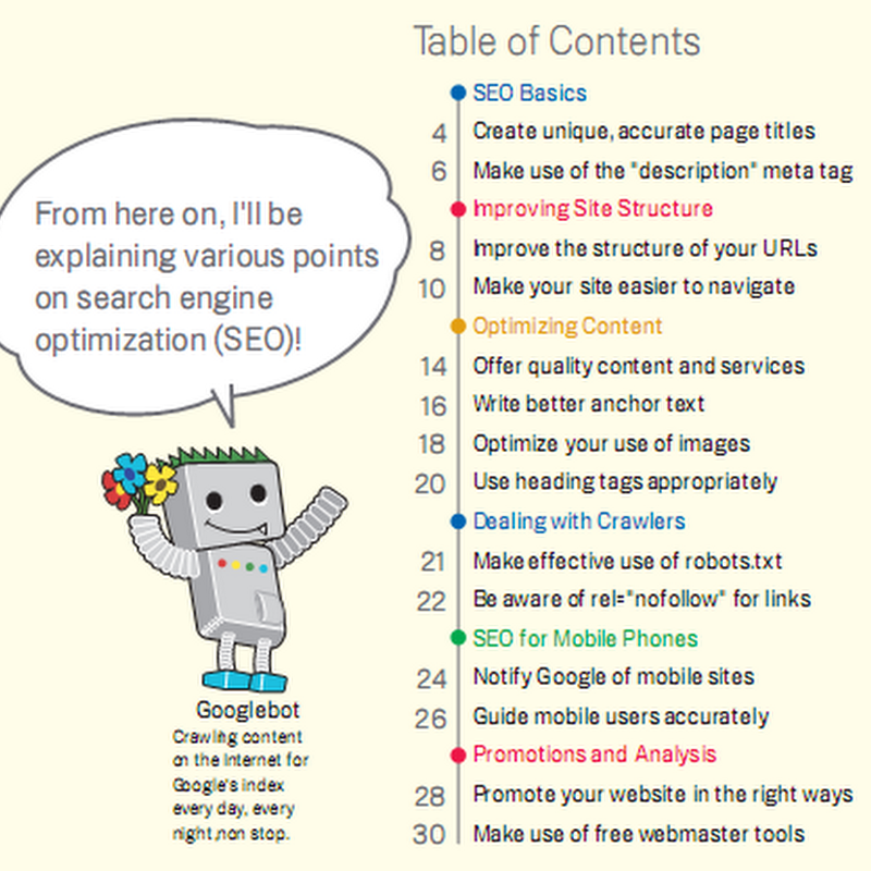 Google's SEO Starter Guide [Free PDF ebook]