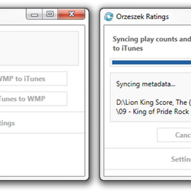Sync song ratings and play counts between Windows Media Player and iTunes
