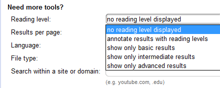 google-reading-level