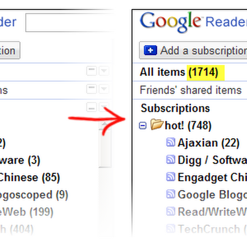 Show the Actual Unread Message Count in Google Reader