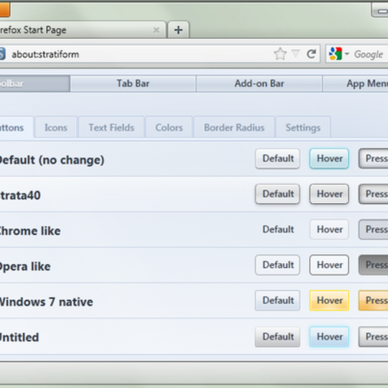 Customize Firefox 4 Appearance With Stratiform