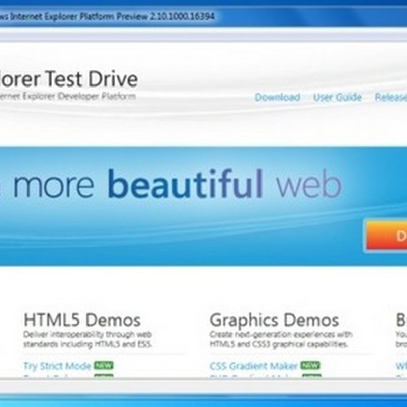 Internet Explorer 10 Platform Preview 1 is Out