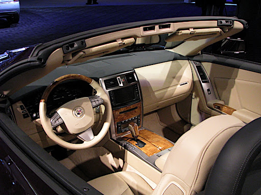 Cadillac XLR Interior. 2009 North American International Auto Show Photos by